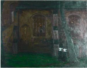 Kyrkoexteriör Med Nunnor by Pelle SWEDLUND