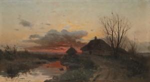 Sunset In The Countryside by Sergei Ivanovich VASILKOVSKY