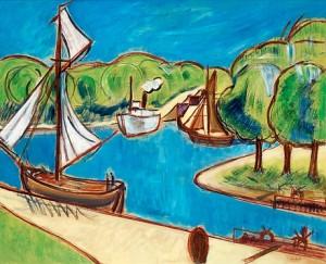 Båtar Vid Slussen by John 'Jon' JON-AND
