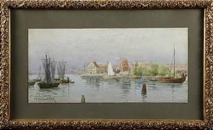 Hamnmotiv Från Lübeck by Hjalmar FALK