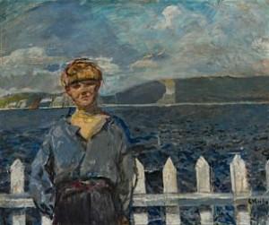Anton Martin 14 år by Christian KROHG