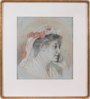 Portrait Of Miss Anna Wiik by Maria WIIK