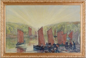 Fransk Fiskehamn by Sven Otto LINDSTRÖM