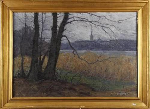 Insjölandskap by Nils HOLMQVIST