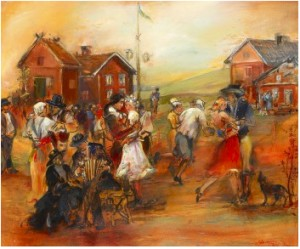 Midsommardans by Bo Åke ADAMSSON