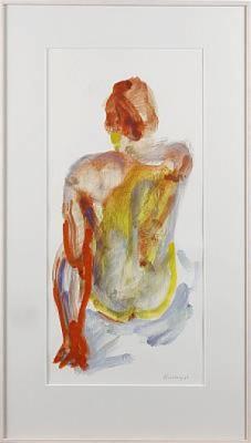 Komposition Med Sittande Kvinna by Peter TILLBERG