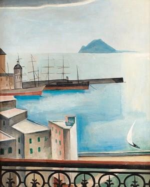 Hamnen I Pozzuoli by Ewald DAHLSKOG