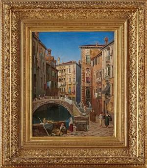 Vue Af Palazzo Furlani I Venedig by Gustaf Wilhelm PALM