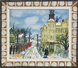 Hagalund I Vinter by Olle OLSSON HAGALUND