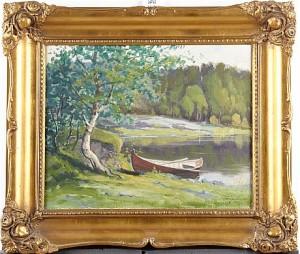 Landskap Med Snipa by Arthur HEICKELL