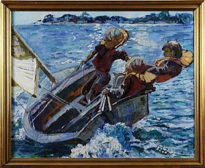 Segling by Bertil WAHLBERG