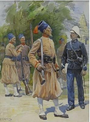 Samtalande Soldater by Alphonse LALAUZE
