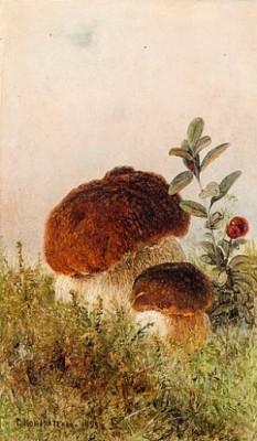 Mushrooms by Gavril Pavlovich KONDRATENKO