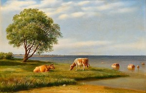 Cows By The Shore by Mikhail Konstantinovich KLODT VON JURGENSBURG