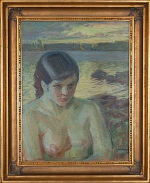 Symbolistiskt Motiv by Albert GEBHARD
