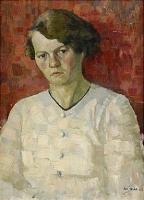 Porträtt Av Konstnärens Syster Elvira by Axel FRIDELL