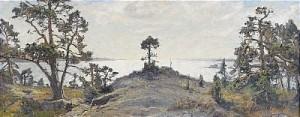 Afton I Tjust Skärgård by Gottfrid KALLSTENIUS
