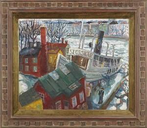 Långholmsvarvet Med Storskär by Charles SJÖHOLM