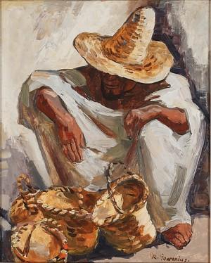 Korgförsäljare Från Marocko by Rudolf GOWENIUS