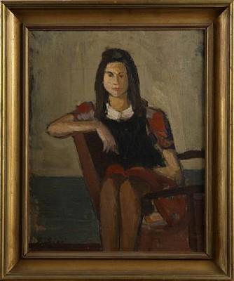 Sittande Kvinna by Gustav SJÖÖ