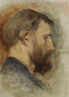 Bearded Man by Helene SCHJERFBECK