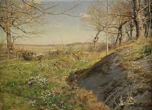 Solbelyst Skogsstig by Johan KROUTHÉN