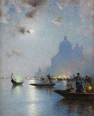Venedig I Skymning by Wilhelm Von GEGERFELT