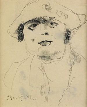 Kvinna Med Hatt by Bror HJORTH