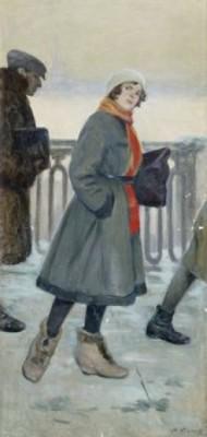 På Väg Till Arbetet by Feodor Feodorovich BUCHHOLZ