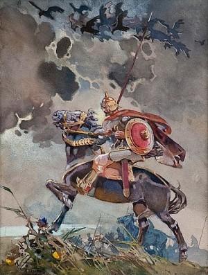 A Rider by Nikolai Nikolaevich KARAZIN