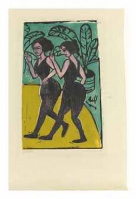 Englische Steptänzerinnen (schiefler H 127; Dube H 176) by Ernst Ludwig KIRCHNER