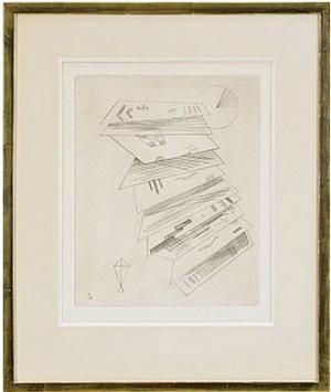 Zweite Radierung Für Die Editions 'cahiers D'art' by Wassily KANDINSKY