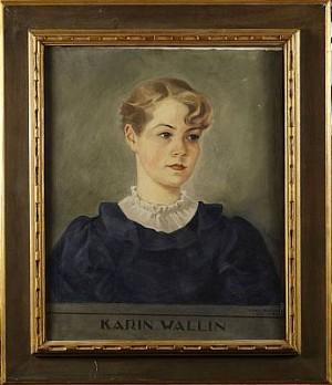 Porträtt Av Karin Wallin by Einar NERMAN