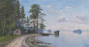 Lake Landscape by Ellen FAVORIN