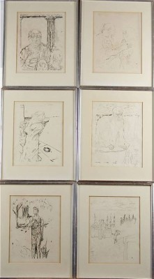 (6) Figurkompositioner by Pierre BONNARD