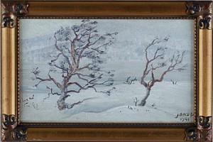 Vinterlandskap Från Kesudalen by Paul JONZE