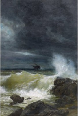 Foundering Ship Off The Coast by Prince Arsenii Ivanovich MESCHERSKY