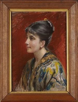 Porträtt Av Anna Amallia by Elisabeth KEYSER