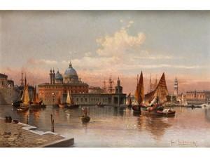 Venedigansicht Mit Blick Auf Die Punta Della Dogana Mit Dem Dogenpalast Im Hintergrund by Karl KAUFMANN