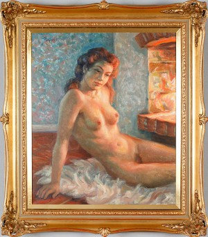 Kvinna Vid Brasa by Per-Hilding PERJONS