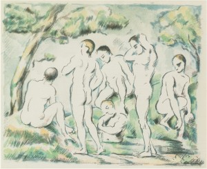 The Small Bathers by Paul CÉZANNE