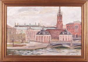 Stockholmsmotiv Med Vy över Riddarhuset by Inga MÖLLERBERG