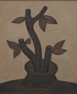 Still Life With Plant by Dimitri Mikhailovich KRASNOPEVTSEV