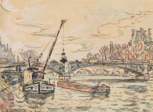 Pont Des Arts, Paris by Paul SIGNAC