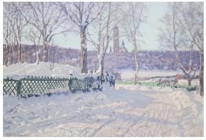 Ringvägen I Saltsjöbaden, Vinterlandskap by Anshelm SCHULTZBERG