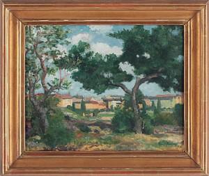 Grönskande Landskap Med Träd by Knut JANSON