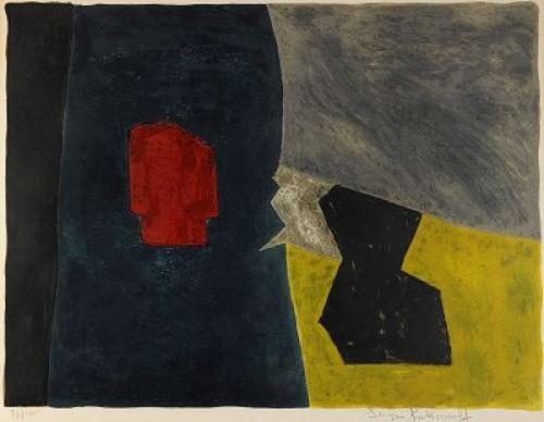 Composition Bleue, Jaune Et Grise, (lit: Poliakoff-schneider 16, Riviere 16) by Serge POLIAKOFF