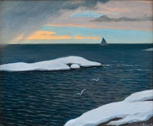 Late Fall At Sea by Väinö BLOMSTEDT
