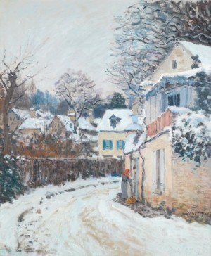 Route à Louveciennes by Alfred SISLEY