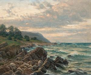 Kustlandskap by Berndt LINDHOLM